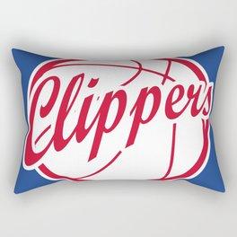 Clippers vintage baskeball logo Rectangular Pillow