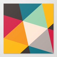 triangles Canvas Prints featuring Triangles by Gary Andrew Clarke