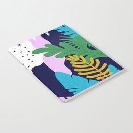 ABSTRACT TROPICAL JUNGLE RAINFOREST PATTERN Notebook