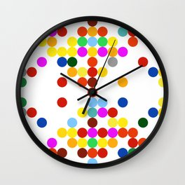 Colorful dots pattern Wall Clock