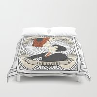 potter Duvet Covers featuring Harry Potter Tarot by Luke Eckstein