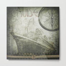Steam Ship Ahoy Metal Print