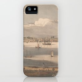 Vintage Pictorial Map of Gloucester MA (1836) iPhone Case