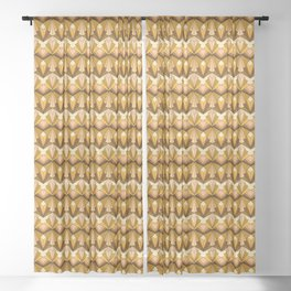 Art Deco meets the 70s Sheer Curtain