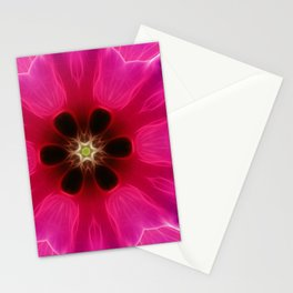Pink Flower Abstract Stationery Cards