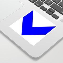 Chevron (Blue & White) Sticker