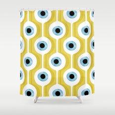 Eye Pod Yellow Shower Curtain