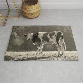Cow in Field Rug