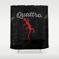 audi Shower Curtains featuring Quattro by Pisthead