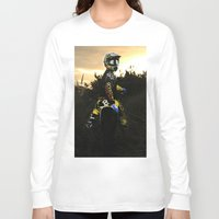 moto Long Sleeve T-shirts featuring Moto Sunset by Konrad Hempel Photography