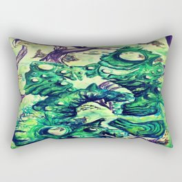 Under the Sea Watercolor Painting Rectangular Pillow