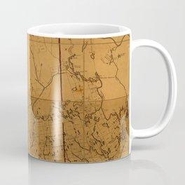 Map of Maine 1802 Coffee Mug