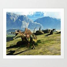 Ichthyovenator Dinosaur Art Print