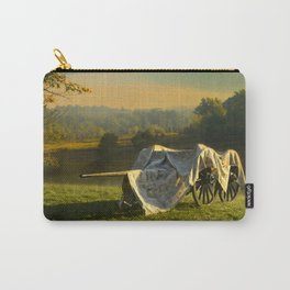 Civil War canon and limber in the early morning mist. Carry-All Pouch