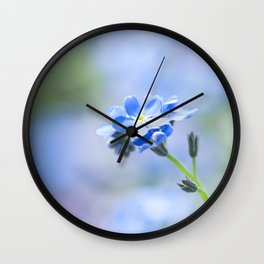 Forget-me-not in LOVE - Springflower Flowers Floral Wall Clock