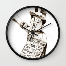 the POPO' paperboy Wall Clock