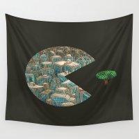 pacman Wall Tapestries featuring Pacman by gunberk