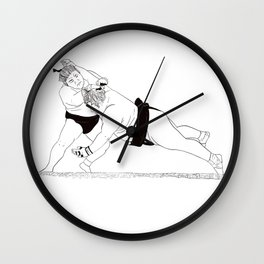 Two Sumos Wall Clock