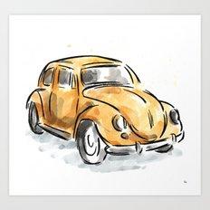 The Classic Beetle Art Print