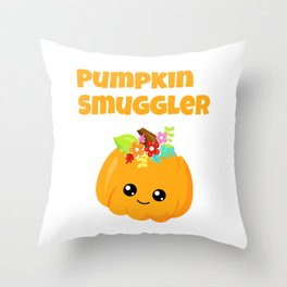 Pumpkin Smuggler Throw Pillow