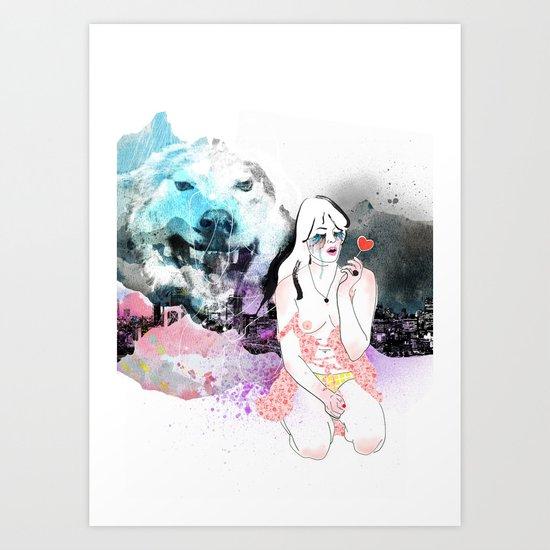 Lolita Wolf Art Print