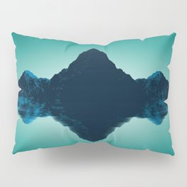 Phenomenal Wonderful Turquoise Hill Side Mirroring Lake Surface UHD Pillow Sham