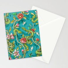 Morning Song - turquoise Stationery Cards
