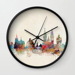 Barcelona city skyline Wall Clock