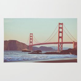 Golden Gate Moonrise | Golden Gate Bridge | Night Sky Rug