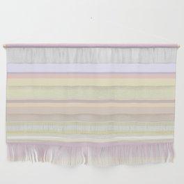 Random Pastel Stripes Wall Hanging