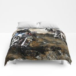 """Dare to Race"" Motocross Dirt-Bike Racers Comforters"