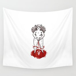 Feminist Blood Witch Wall Tapestry