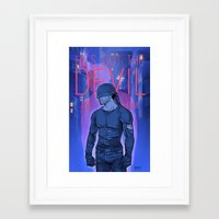 daunt Framed Art Prints featuring Got the Devil in Him by Daunt