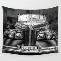 car Wall Tapestries featuring Vintage car by Veronika
