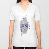popart V-neck T-shirts featuring PopArt by Ina Spasova puzzle