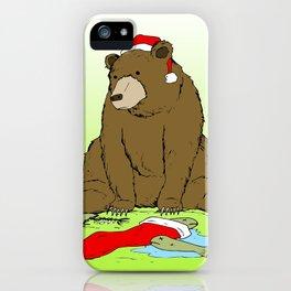 Santa Bear iPhone Case