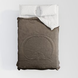 Brown vintage faux leather Comforters