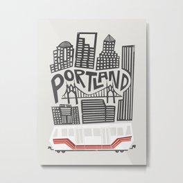 Portland Cityscape Metal Print