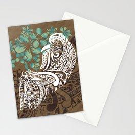 Vintage Hawaiian - Samoan Tribal Watercolor Design Stationery Cards