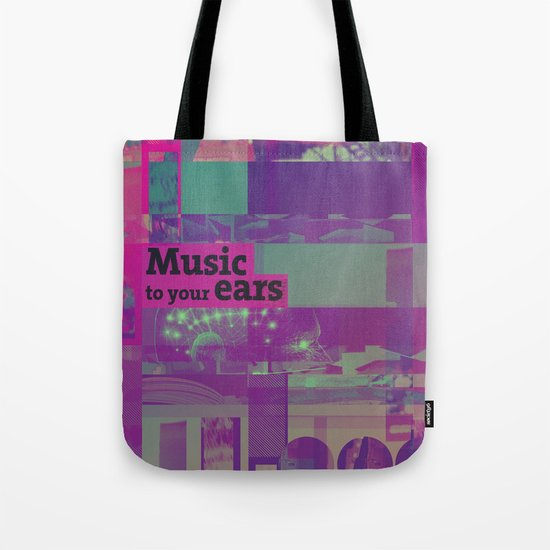 Music To Your Ears (ANALOG zine) Tote Bag