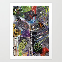 Artisan Collage Art Print