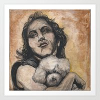 silence of the lambs Art Prints featuring Playing Lambs by Colunga-Art
