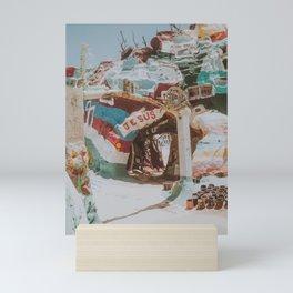 salvation mountain iii / slab city, california Mini Art Print