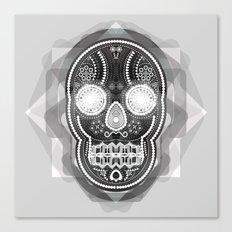 Black skull Canvas Print