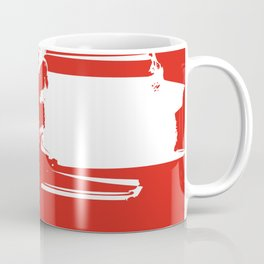 The Red is In Lines Coffee Mug