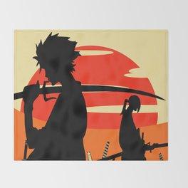 Sharp Like An Edge Of A Samurai Sword Throw Blanket