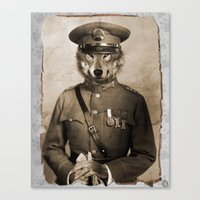 general Canvas Prints featuring The general by Seamless
