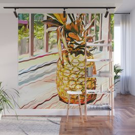 The Pineapple Wall Mural