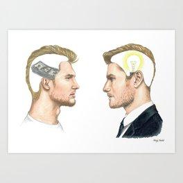 "Poor mind: ""I need money to make money"" Rich mind: ""Idea + pen/paper."" Art Print"