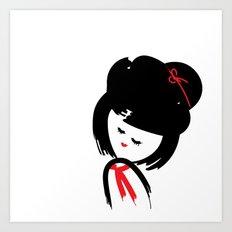 Cute Japanese Girl Art Print